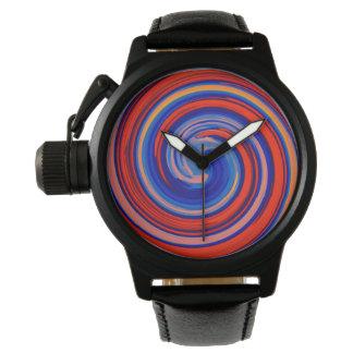 Arte abstracto #40 del remolino moderno relojes de mano