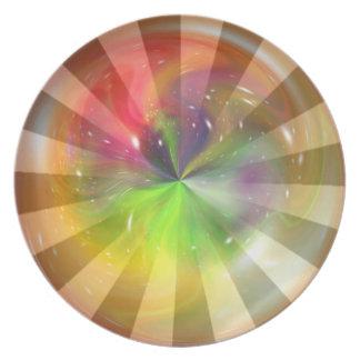 Arte abstracto 4 de la fantasía de la esfera platos de comidas