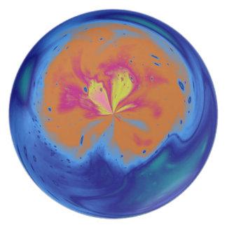 Arte abstracto 5 de la fantasía de la esfera plato de comida