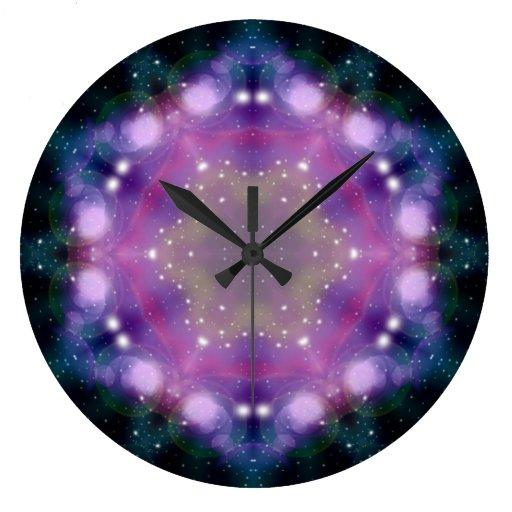Arte abstracto 6 de la luz de la galaxia de la cie reloj de pared