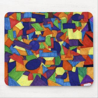 Arte abstracto a ser lleno alfombrilla de raton