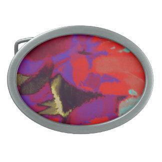 Arte abstracto abstracto 18 de la pintura el | hebilla cinturón oval