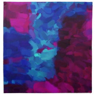 Arte abstracto abstracto de la pintura el | servilletas de papel