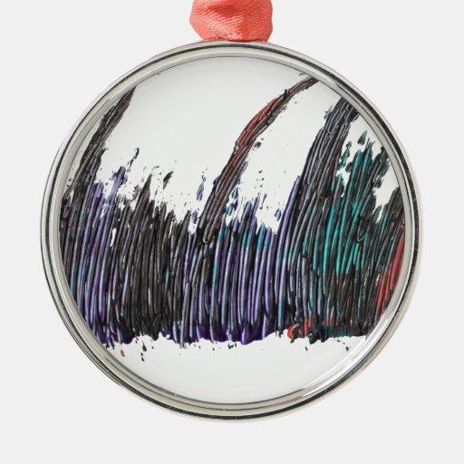 arte abstracto adorno navideño redondo de metal