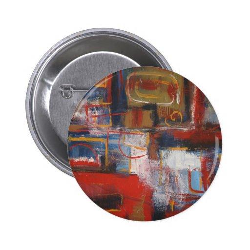 Arte abstracto africano - cuadrados y círculos pins