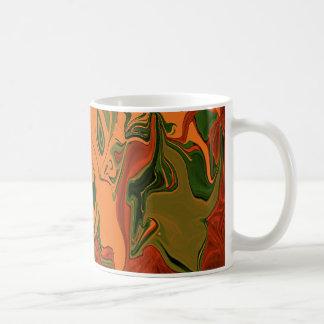 Arte abstracto anaranjado del camuflaje por HaveUH Tazas