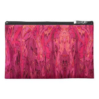 Arte abstracto anaranjado rosado