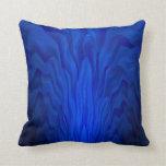 Arte abstracto azul cojin