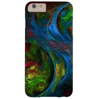 Arte abstracto azul de la génesis funda de iPhone 6 plus barely there