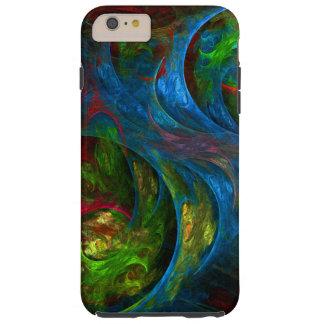 Arte abstracto azul de la génesis funda resistente iPhone 6 plus