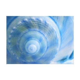 Arte abstracto azul de Shell Digital Impresion En Lona