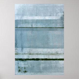"""Arte abstracto azul """"firme"""" póster"""
