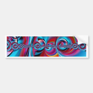 arte abstracto azul y rojo creado por Tutti Pegatina Para Auto