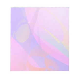 Arte abstracto azul y rosado de la impresión bloc
