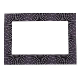 Arte abstracto blanco y del gris negro swirly de foto de imanes