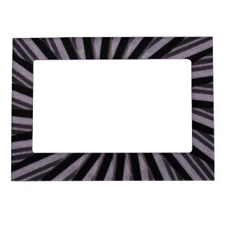 Arte abstracto blanco y del gris negro swirly de marcos magneticos
