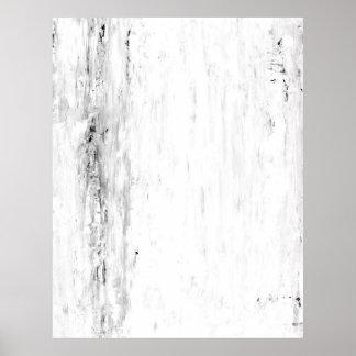 """Arte abstracto blanco y negro de la """"avalancha"""" póster"""