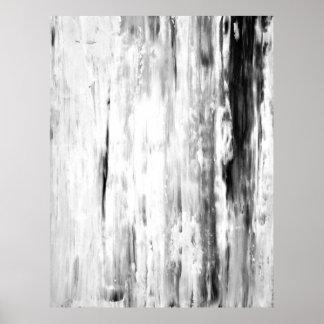 """""""Arte abstracto blanco y negro de la selección de Póster"""