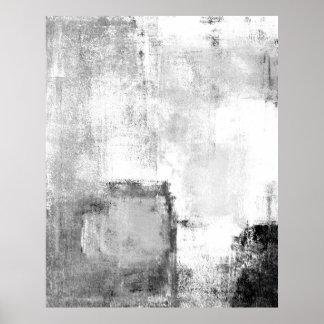 """Arte abstracto blanco y negro de las """"lecciones"""" póster"""