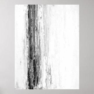 """Arte abstracto blanco y negro del """"glaciar"""""""