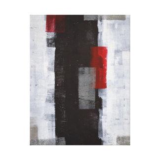 """""""Arte abstracto blanco y negro del viaje del Impresión En Lienzo"""