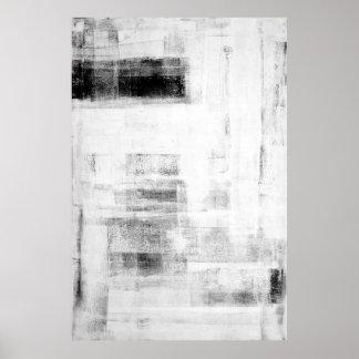 """""""Arte abstracto blanco y negro digno de la cueva Póster"""