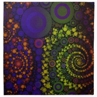 Arte abstracto brillante loco servilletas imprimidas