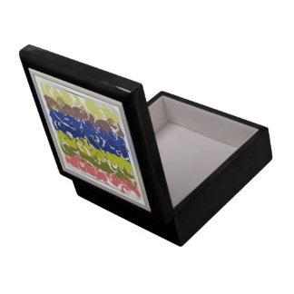 Arte abstracto caja de regalo