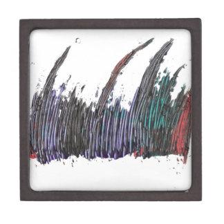 arte abstracto caja de recuerdo de calidad