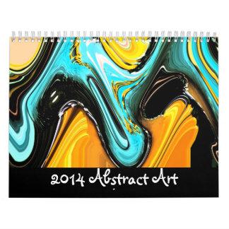 Arte abstracto calendario