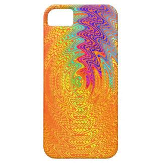 Arte abstracto coloreado arco iris de las ondas iPhone 5 fundas