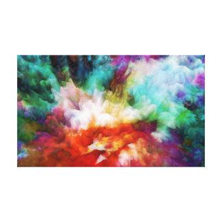 Arte abstracto, colores líquidos, ilustraciones en impresion en lona