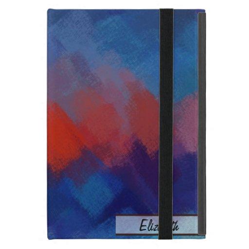 Arte abstracto colorido abstracto 25 de la pintura iPad mini carcasas