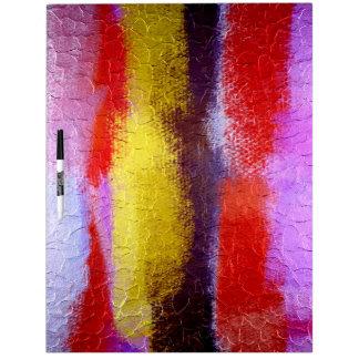 Arte abstracto colorido abstracto de la pintura el pizarra blanca