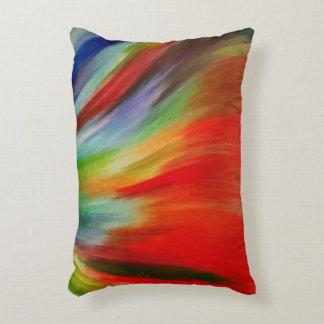 arte abstracto colorido brillante de la acuarela cojín decorativo