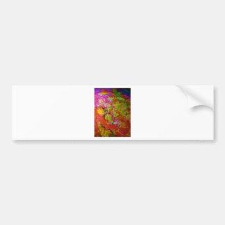 Arte abstracto colorido etiqueta de parachoque