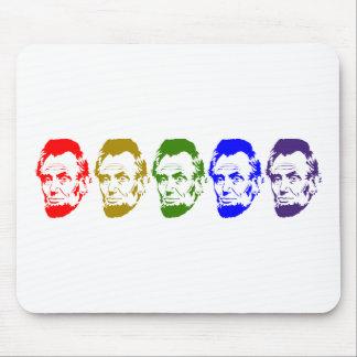 Arte abstracto colorido de Abe Lincoln Tapetes De Ratón