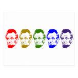 Arte abstracto colorido de Abe Lincoln Tarjetas Postales
