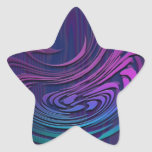 Arte abstracto colorido de Digitaces Pegatinas Forma De Estrella Personalizadas