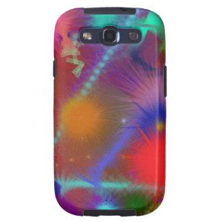 Arte abstracto colorido de la carta de Astro del c Samsung Galaxy S3 Coberturas