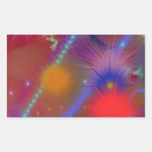 Arte abstracto colorido de la carta de Astro del Rectangular Altavoces
