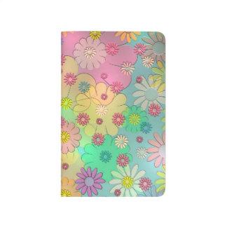 Arte abstracto colorido de la flor cuadernos