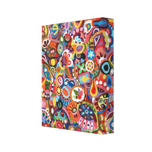 Arte abstracto colorido de la pared en lona impresión en lienzo estirada