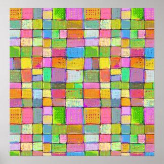 Arte abstracto colorido de la pintura de la impresiones
