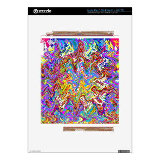 Arte abstracto colorido de las ondas fantásticas pegatinas skins para iPad 3
