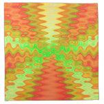 arte abstracto colorido del amarillo anaranjado servilleta de papel