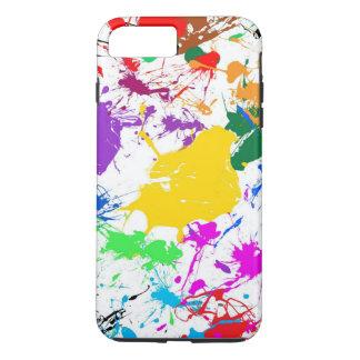 arte abstracto colorido del chapoteo funda iPhone 7 plus