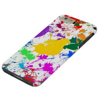 arte abstracto colorido del chapoteo funda resistente iPhone 6 plus