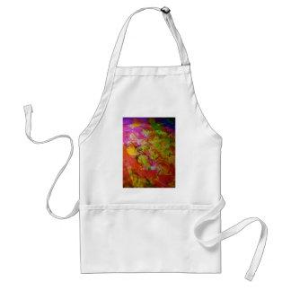 Arte abstracto colorido delantal