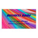 Arte abstracto colorido psicodélico del fractal tarjeta de negocio